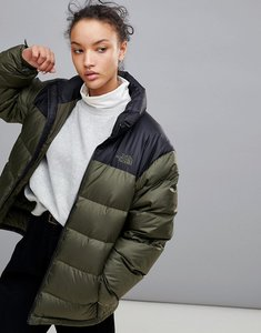 Read more about The north face nuptse 2 jacket in green - black taupe green