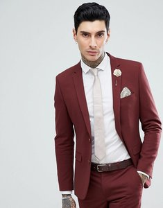 Read more about Harry brown rust stretch skinny fit suit jacket - copper