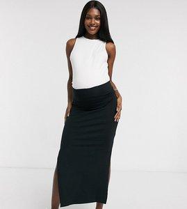 Read more about Mamalicious organic tube maxi skirt - black