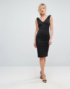 Read more about Ted baker bodycon dress with embellished bow shoulder - black
