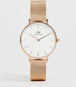 Read more about Daniel wellington dw00100163 mesh watch in rose gold - rose gold