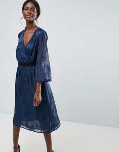 Read more about Y a s printed midi dress - navy