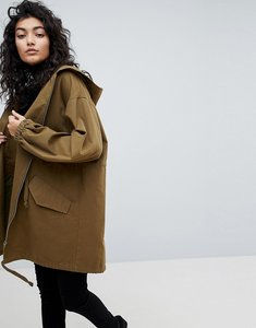 Read more about Asos design lightweight parka - khaki
