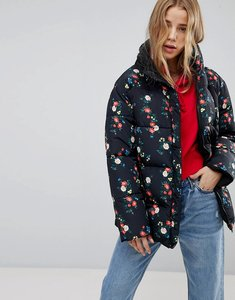 Read more about Miss selfridge reversible floral padded jacket - multi