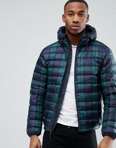 Read more about Polo ralph lauren lightweight hooded down jacket in navy tartan check - blackwatch tartan