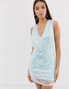 Read more about The girlcode sequin mini dress in mint