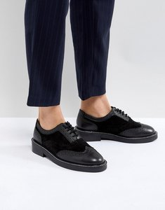 Read more about Asos munich leather flat shoes - black