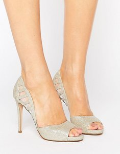 Read more about Faith carbo metallic cut out heeled shoes - gold