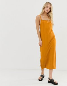 Read more about Bershka ribbed dress - yellow