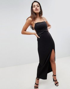 Read more about Asos design cross front strappy maxi dress - black
