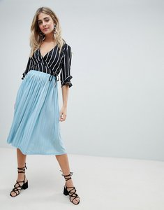 Read more about Missguided pleated midi skirt - blue