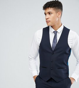 Read more about Harry brown tall plain stretch slim suit waistcoat - navy