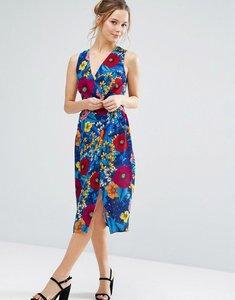 Read more about Closet london floral print midi summer dress - orange