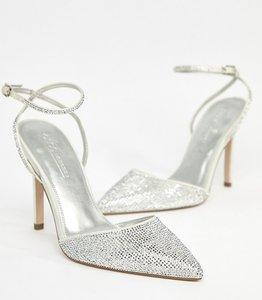 Read more about Asos design pharaoh bridal embellished high heels - ivory