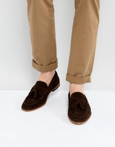 Read more about Asos loafers in brown suede with tassels - brown