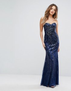 Read more about Forever unique embellished sweetheart maxi dress - navy
