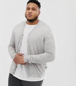 Read more about French connection plus man cardigan - grey