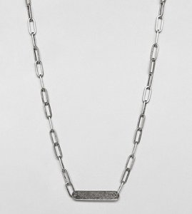 Read more about Designb id chain necklace in sterling silver exclusive to asos