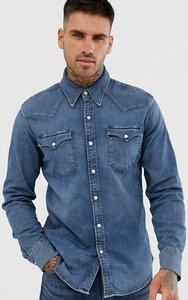 Read more about Levi s barstow western denim shirt in bruised indigo mid wash