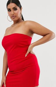 Read more about Fashionkilla plus going out bandeau mini dress red