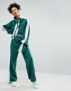 Read more about Asos joggers with side stripe co-ord - green