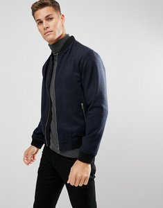 Read more about D struct wool bomber jacket - navy