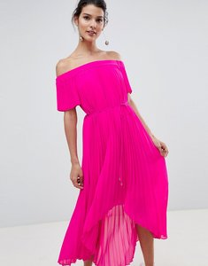 Read more about Ted baker pleated dip hem maxi dress - neon pink