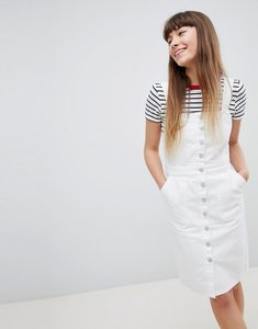 Read more about New look denim button through dress - white