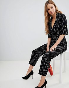 Read more about Asos design soft tux jumpsuit in ditsy spot print - multi