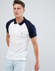Read more about French connection raglan polo shirt - white