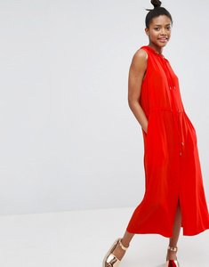 Read more about Monki sports zip up dress - red