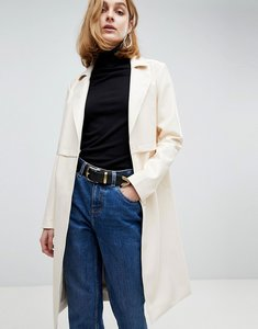 Read more about Asos faux leather trench coat - cream