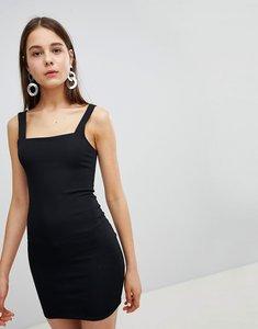 Read more about New look square neck rib mini dress - black