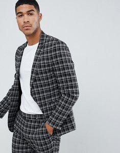b9bbc336 Read more about Asos design skinny suit jacket in black and white grid check