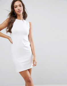 Read more about Asos sleeveless mini vest dress with twist arm detail - white