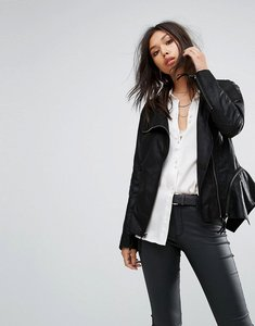Read more about Bolongaro trevor wild zip off hem leather jacket - black