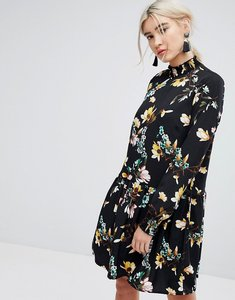 Read more about Vila floral printed high neck shift dress - multi