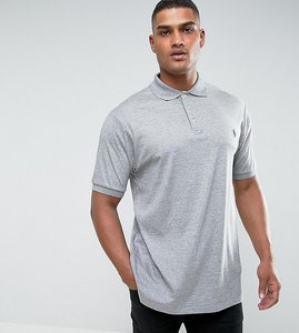 Read more about Polo ralph lauren tall pima cotton polo slim fit in grey marl - homestead heather
