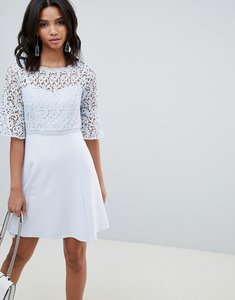 Read more about French connection corded lace mini dress - sea breeze