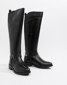Read more about Dune upton leather knee boots - black