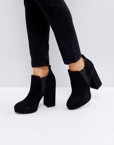 Read more about Asos efan platform chelsea boots - black