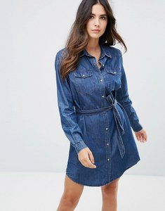 Read more about French connection western denim tencil shirt dress - washed indigo