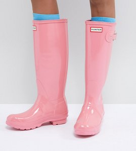 Read more about Hunter original tall gloss wellie - pale pink