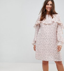 Read more about Alice you ruffle sleeve tea dress - pink