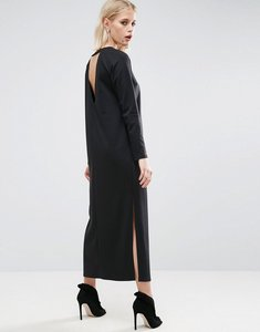 Read more about Asos plunge back maxi dress - black