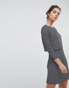 Read more about Miss selfridge checked dress - mono