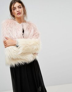 Read more about Stradivarius faux fur jacket - pink