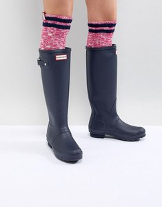 Read more about Hunter original tall navy wellington boots - navy