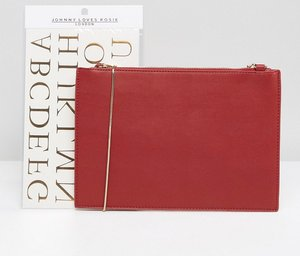 Read more about Johnny loves rosie clutch bag with personalisation foil letters - red