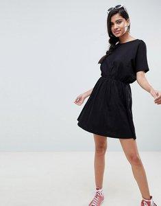 Read more about Asos design cross back smock dress in slub